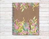 Notebook, Personalized Notebook, New Job, Graduation Gift, Flowers, Professional, Notepad, Organizer, Journal, Diary, Writing Journal