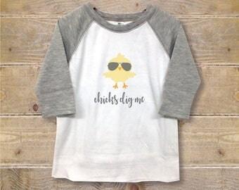 Boy's Shirt, Toddler Shirt, Fly Guy, Cool, Chicks Dig Me, Spring Shirt, Headphones Shirt, Long Sleeve, Grey, Personalized Shirt, Birthday