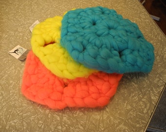large crochet cushion