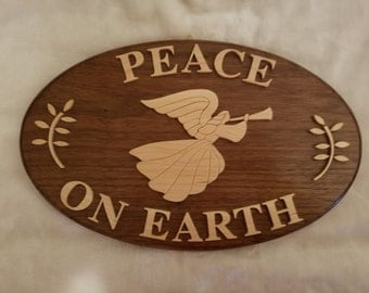peace on earth wall plaque