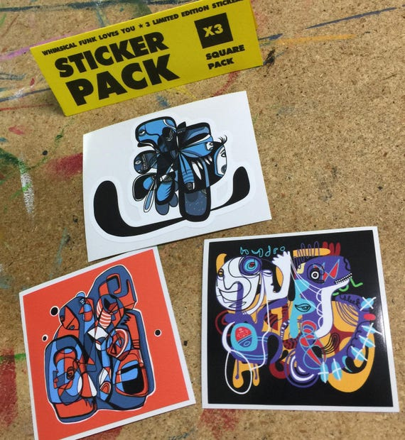 Square Sticker Pack - Limited Edition