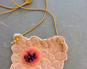 Fawn and sparkle stitched necklace