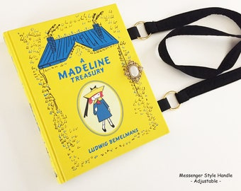 Madeline Leather bound Book Purse - Madeline Collector Gift - Madeline Book Cover Handbag - Purse made from a book - Literary Bookish Gift