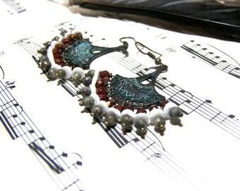 Bohemian Fan Chandelier Earrings Bohemian Jewelry for Women Boho Gifts
