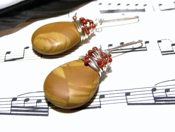 Jasper Earrings Beaded Earrings Top Selling Jewelry Most Popular Jewelry Gift Ideas Feminine Earrings