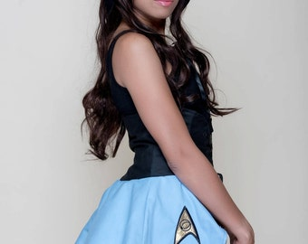 Final Frontier Science Blue Inspired Cincher Skirt
