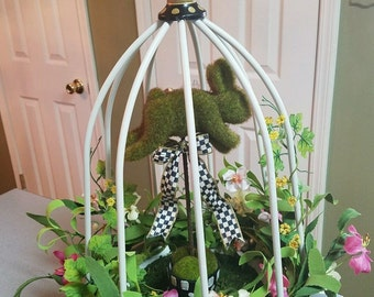 MacKenzie Child courtly check ribbon on my custom floral arrangement