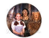 "45% OFF - Pocket Mirror, Magnet or Pinback Button - Wedding Favors, Party themes - 2.25""- Wizard of Oz The Gang MR413"