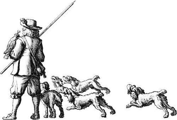 man and hunting dogs clipart png clip art Digital stamp Download animals pets image graphics digi stamp printables