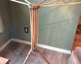 Vintage standing clothes rack dryer