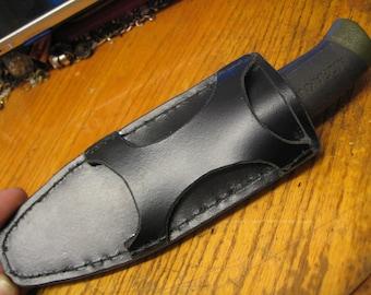 Free shipping Handmade ambidextrous leather sheath for Swedish MORA companion Bushcraft knife
