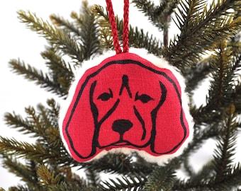 Fleecy Beagle Christmas Tree Decoration