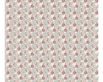 Tilda Fabric, Tilda Zoe Blue Fat Quarter, Tiny Treasures Collection, Tilda Fabric 480785, Fat Quarter, 50 cm x 55 cm