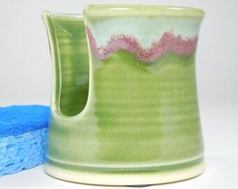 Kitchen Sponge Holder - Sink Sponge Keeper - Pottery Sponge Caddy - Ceramic Sponge Dish - Spongeholder - In Stock