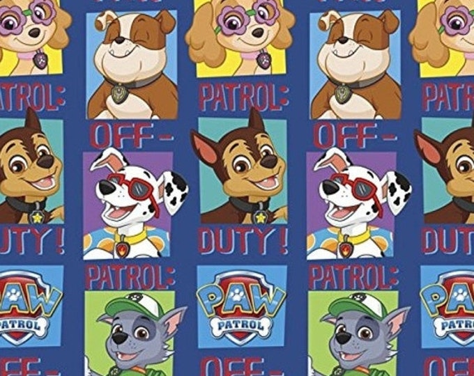 FLEECE, Children's Paw Patrol Fleece Fabric by David's Textiles 60-62 inches Wide