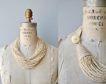 Sun Kingdom necklace   vintage beaded necklace   wide beaded collar necklace