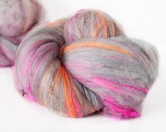 Tainted Love 2.8 oz  Wool - Merino Mixed Art Batt // Wool Art Batt for spinning or needle felting