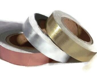 Metallic Foil Washi Tape - Copper Silver Gold - | Craft Tape | Scrapbooking Craft Supplies