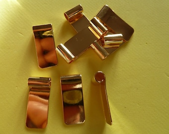 10 Small Medium or Large tube top bail findings ideal for making cabochons into pendants Gold Plated  G/P