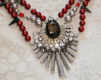 Valentines Beauty Necklace From Spikes to Pearls
