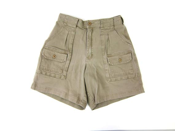 High Waisted CARGO shorts 90s High Waist Khaki shorts Big