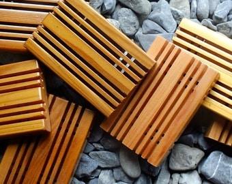 Cedar Soap Savers - Natural -Soap Dish - Soap Rack -Wood -Bath Shower Accessory -Handmade gift -Unstained -Unique -Moisture Resistant