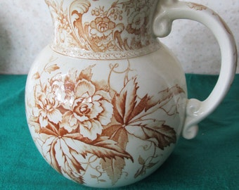 Antique Royal Doulton water pitcher