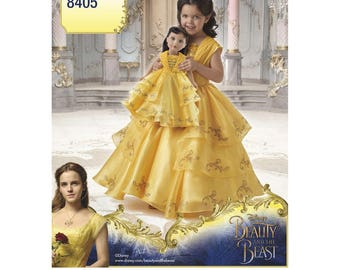 BELLE COSTUME PATTERN / Beauty and the Beast Movie Dress / For Girl and American Girl Doll