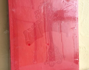 New old stock Vintage Large Bright Red Photo Album Scrap Book for Photographs