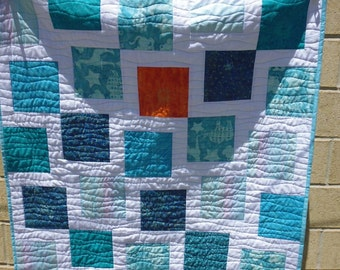 Sun and sea crib or lap quilt