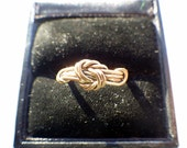 Victorian Knot Ring - Gold Filled - Size 6 - Hand Woven/Hand Made