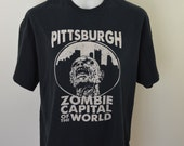 Vintage PITTSBURGH Zombie Capital t-shirt size 2XL cotton