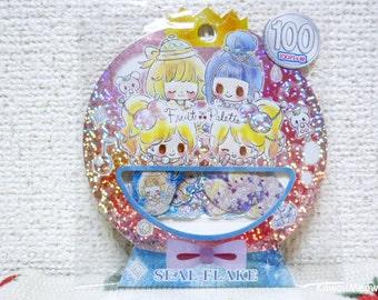 Kamio Japan Sticker Flakes - Fruit Palette- 50 Pieces (46538)