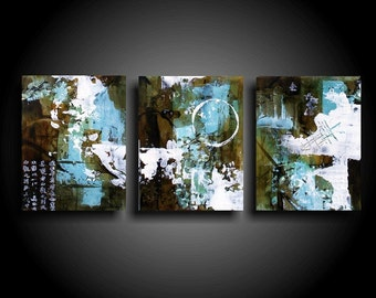 Outsider Art Original Abstract Painting Encaustic Textured Wall Art Modern Earthy Raw Art Symbols Small Painting