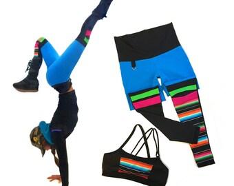 Dance Flow Knee  Color Patch  Sport Leggings