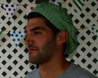 Crochet Bohemian Hat in Light Green