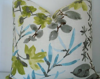 Braemore-Both Sides -Gazebo Cloud -  Decorative Designer Cover -Lemon-Lime-Charcoal -Turquoise- - Throw / Lumbar Pillow Covers