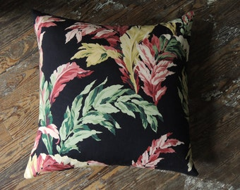 Tropical foliage floral colorful pillow covers botanical linen cotton decorative retro palm beach chic holiday home decor