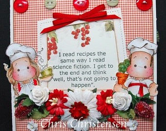 Chef Edwin & Soup's On Tilda Any Occasion Blank Card