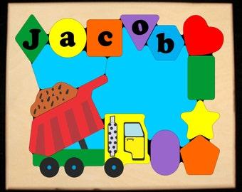 Dump Truck Puzzle Etsy