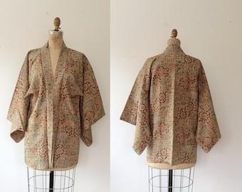 vintage kimono haori / vintage kimono robe / Suzani Mosaic Kimono