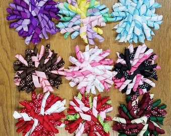 "SALE - Girls 3.5"" Korker Hair Bow - Your Choice of 9 Colors - Hair Bows For Girls - French Clip - Korker Bows - Baby Korker Hair Clip"