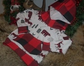Baby Boy Outfit//Red Buffalo Plaid//Sized 9-12 Months//Photo Shoot
