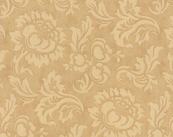 "Sale Sepia Tan Tonal Wide Mille Couleurs Fabric - 26"" x 108"" Wide - 3 Sisters - Moda"