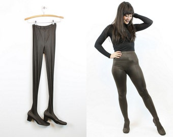 60s Pan-T Boots Deadstock Size 9 / 1960s Vintage Shoes Tights Leggings  / Mad for Mod Boots