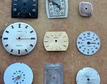 Vintage Antique Watch  Assortment Faces - Steampunk - Scrapbooking f23