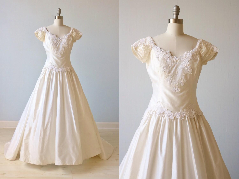 Vintage Priscilla of Boston Wedding Dress Lace Appliques