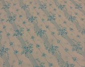 Twin flat sheet with blue roses