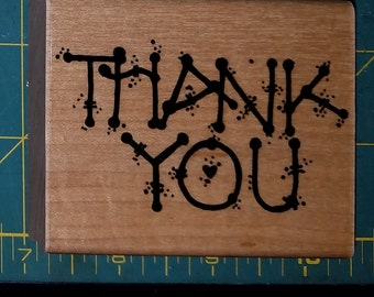 A Thank You Rubber Stamp