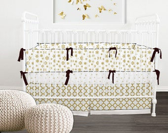 Convertible Crib Bumper/Teething guard // Gold Nursery // Ready To Ship